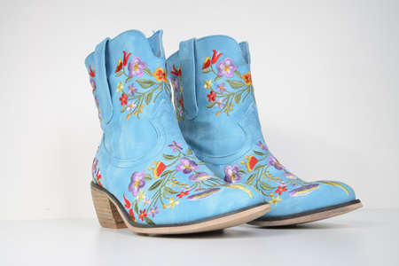 pair of flower boots photo