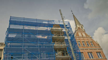 renovating an old building in the Netherlands Stock Photo