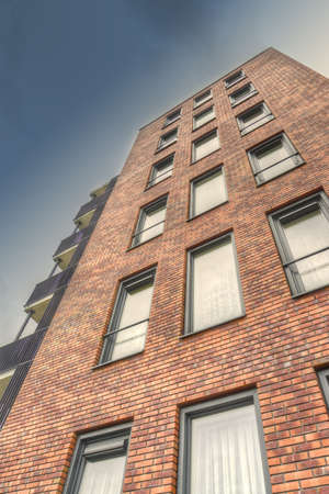 apartment building detail in the Netherlands Stock Photo