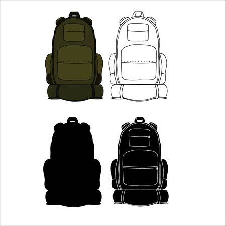 sleeping bags: backpack of bag for camping