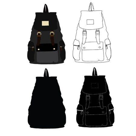 back belt: backpack Illustration