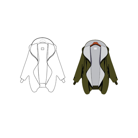varsity: Sport Varsity Jacket Vector Template Illustration