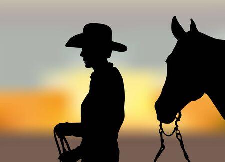the rider: L'immagine mostra un cavaliere con un cavallo Vettoriali