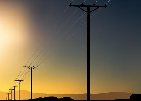 power pole: power poles
