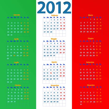 the figure shows the calendar for 2012