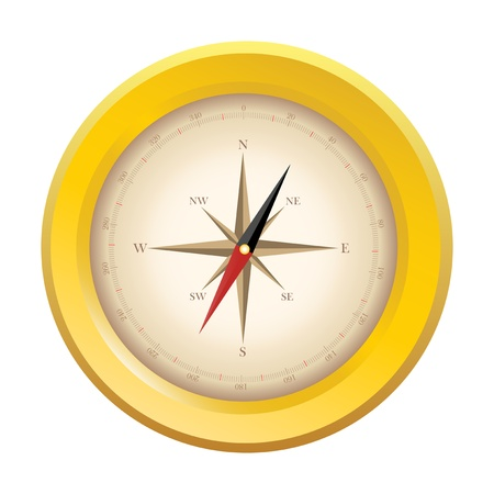 The figure below shows a compass on white background Vector