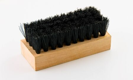 bristles: Brush for clothes with stiff bristles on a white background Stock Photo