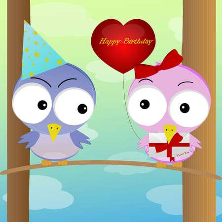 greet: Figure birds greet the holiday another bird