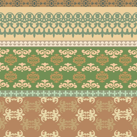 The figure shows several seamless pattern