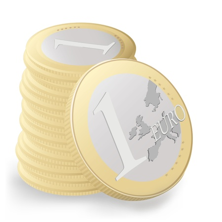 The european union one euro Vector