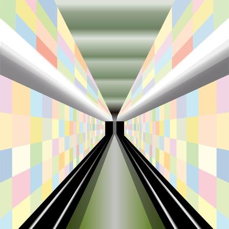 estación del metro: Estaci�n de metro moderna Vectores