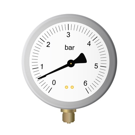 manometer on white background Stock Vector - 13044947
