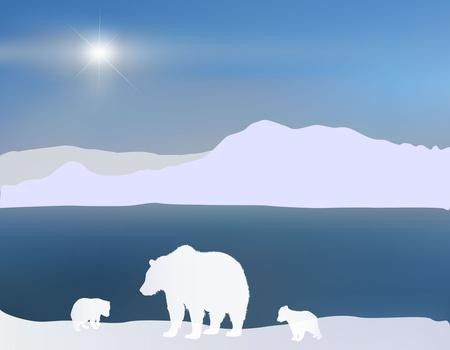 Polar Bears Stock Illustratie