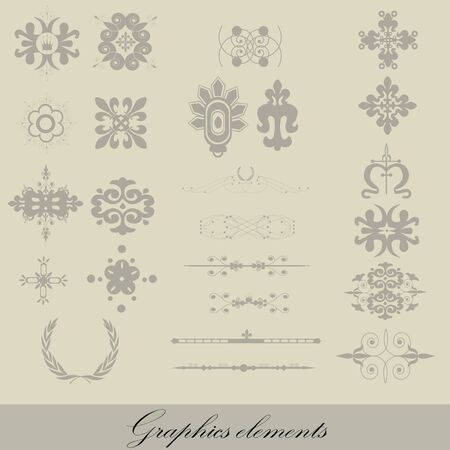 Graphics elements on a gray background Stock Vector - 13248479