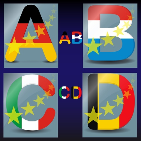 Colored alphabet Stock Vector - 13487550