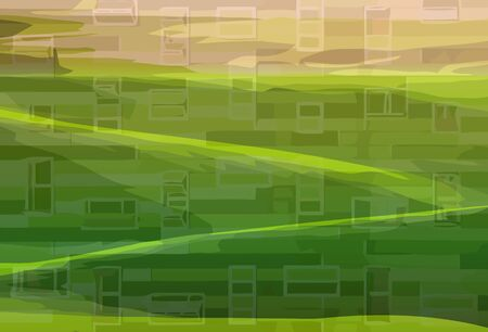 Windows in the fields Stock Vector - 14179301