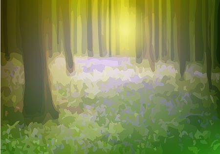Fairy-tale forest Stock Vector - 14245898