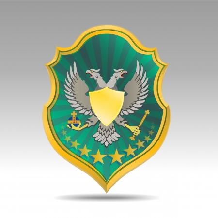 coat of arms with bird Vector