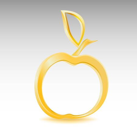 Golden apple Illustration