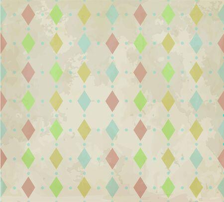rhombic: Seamless retro rhombic background Illustration