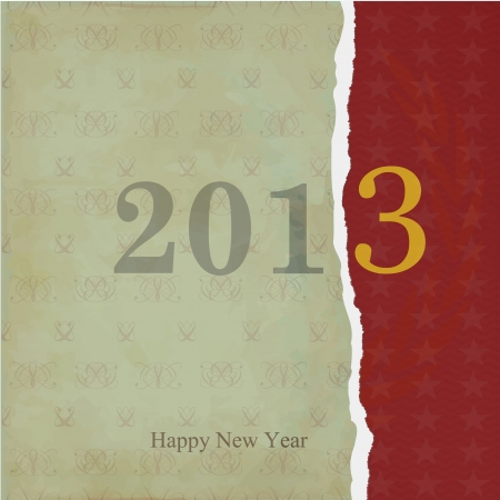 Old torn paper with the words Happy New Year Vector