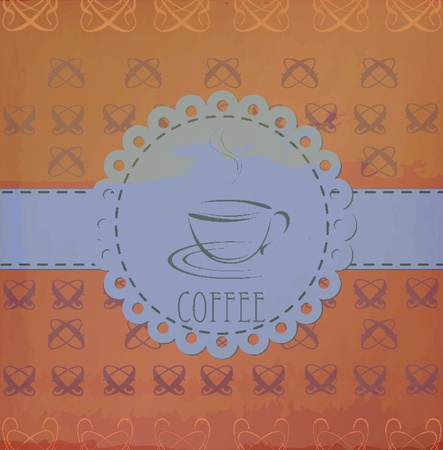 vintage labeled -coffee Vector