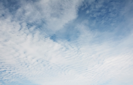 White fluffy clouds in the blue sky Stock Photo - 15157957