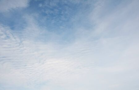 White fluffy clouds in the blue sky Stock Photo - 15157956
