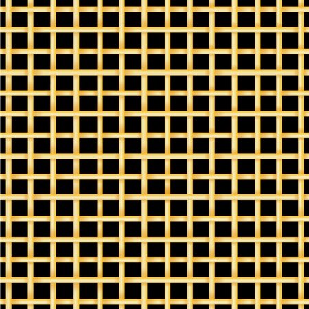 jail cell: Golden bars on a black background