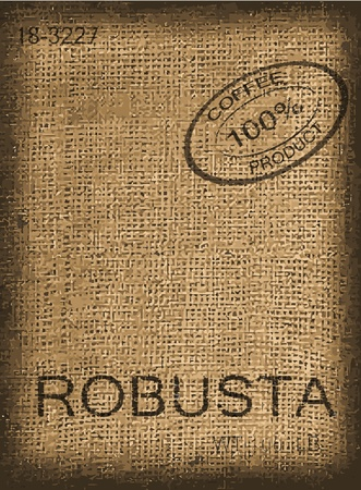 burlap: Coffee bag