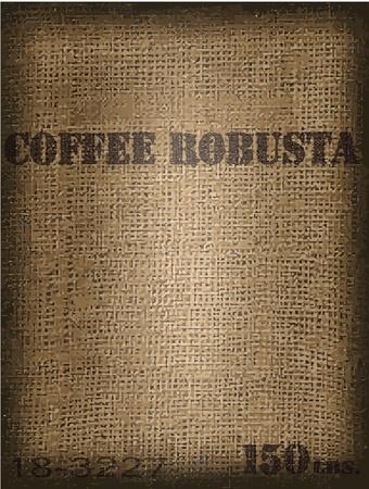 koffiebaal: Koffie tas Stock Illustratie