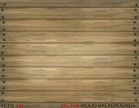 wooden panel: Old wood plank background Illustration