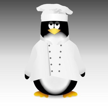 Penguin chef Stock Vector - 16430713