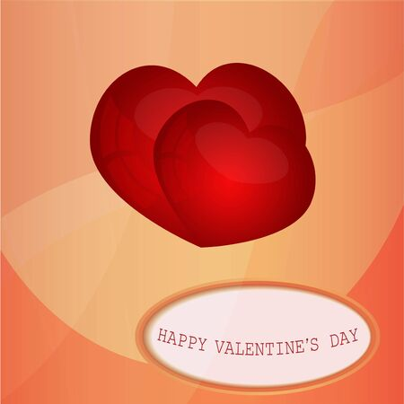 Card with a congratulation Valentine s Day