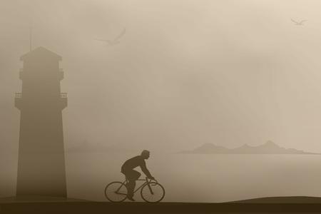 Cyclist rides Stock Vector - 17284480