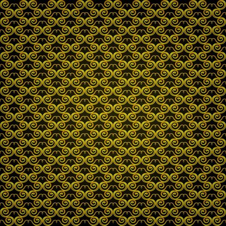 Seamless golden pattern in the form of snakes  Illustration