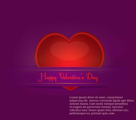 Paper cut Valentine s Day on purple background Stock Vector - 17284479