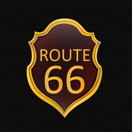 Sign Route 66. Stock Vector - 17982746