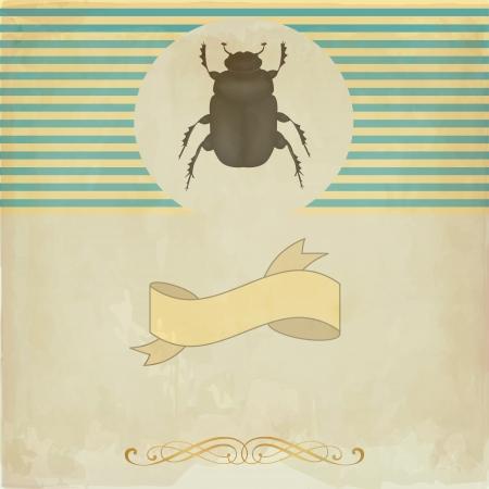 scarabeo: Carta d'epoca con lo scarabeo