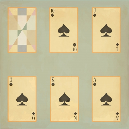 Set  Playing cards Vector