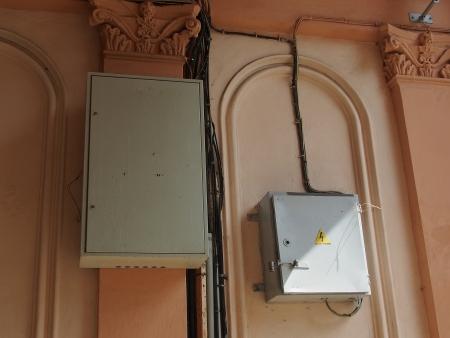 contador electrico: antiguo medidor de electricidad