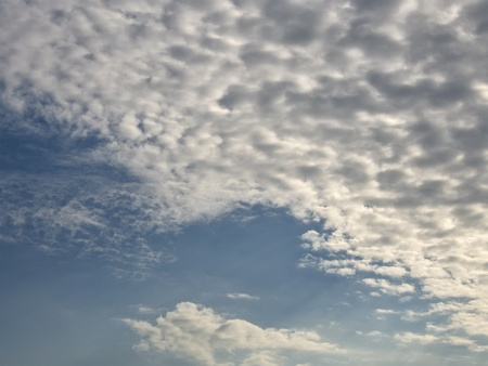 White fluffy clouds in the blue sky Stock Photo - 20720321