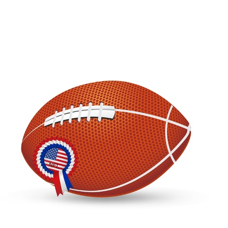Football Ball with USA insignia isolated in white Stock Vector - 22167593