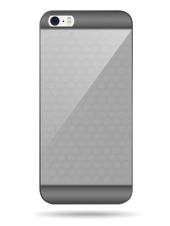i nobody: Vector smart phone back cover Illustration