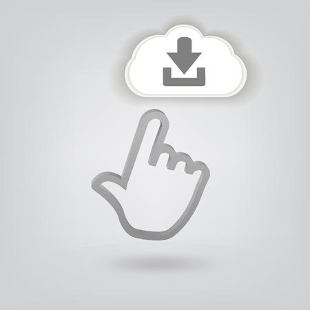 human palm icon Stock Vector - 26819587