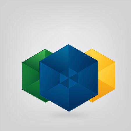 Geometric Brazil Vector Background  Vector