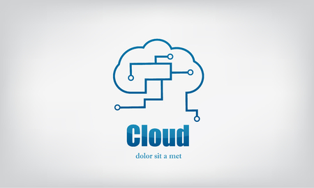 clouds technical icon vector Vector