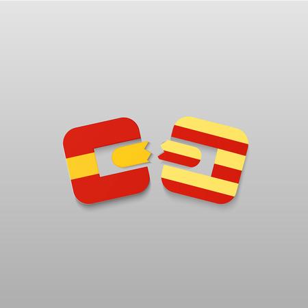 catalonia: Catalonia independence referendum. Illustration