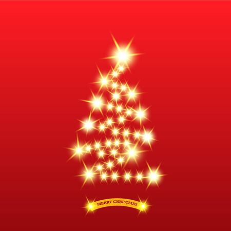 christmas cookie: graphic christmas tree. Illustration