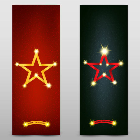 christmas banners - vector illustration